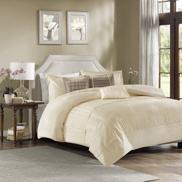 Madison Park Channing Ivory 6 Piece Duvet Cover Set