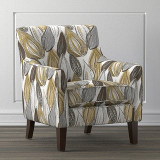 Handy Living Waldron Yellow Leaf Arm Chair