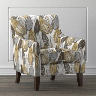 Handy Living Waldron Yellow Leaf Arm Chair