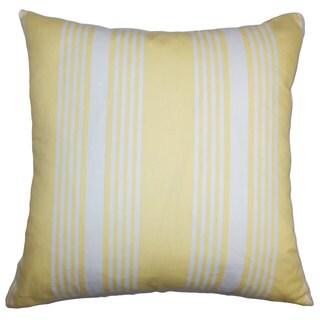 Perri Stripes Euro Sham White Yellow