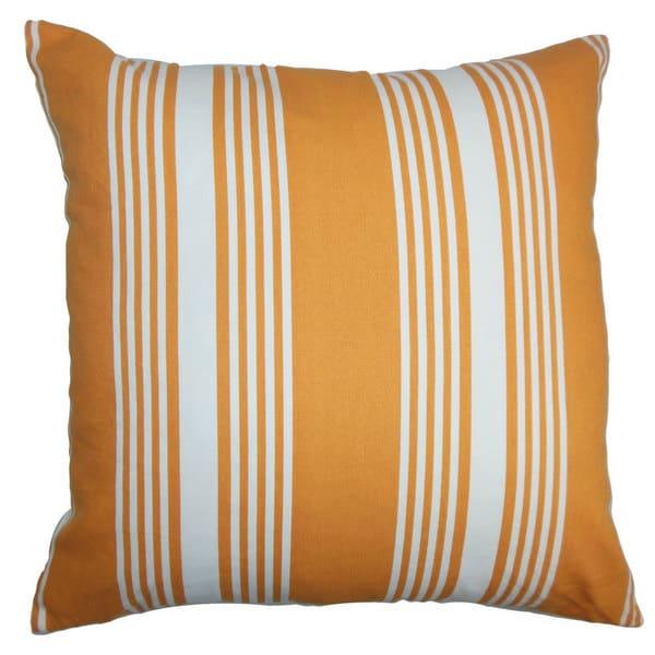 Perri Stripes Euro Sham Orange White