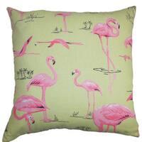 Qusay Animal Print Euro Sham Green Pink