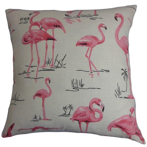 Qusay Animal Print Euro Sham Natural Pink