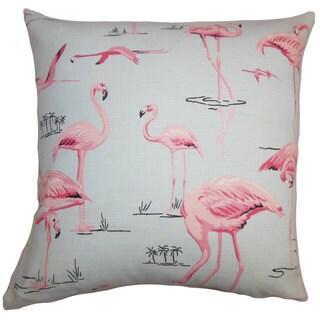 Qusay Animal Print Euro Sham Blue Pink
