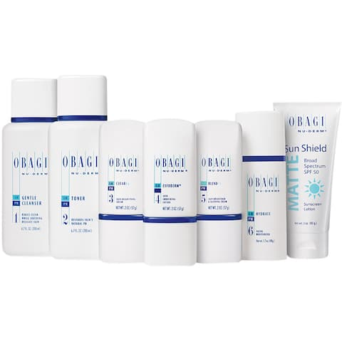Obagi Nu-Derm Fx System for Normal to Dry Skin - White/Blue