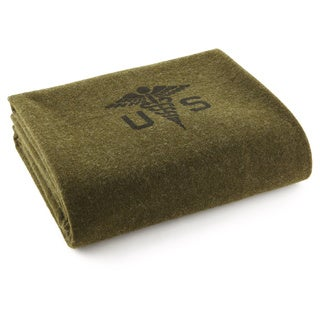Faribault Foot Soldier Military Army Medic Twin Blanket