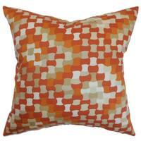 Gaya Geometric Euro Sham Tangerine