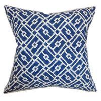 Majkin Geometric Euro Sham Blue