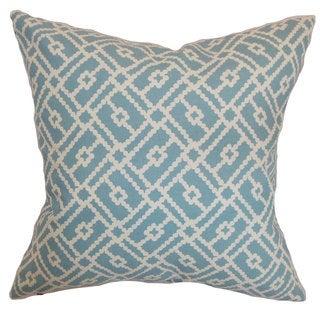 Majkin Geometric Euro Sham Turquoise