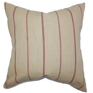 Fairfax Stripes Euro Sham Neutral Red