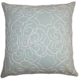 Pam Floral Euro Sham Aqua Blue