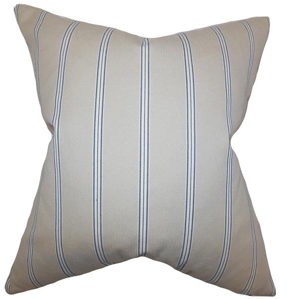 Drusilla Stripes Euro Sham Natural Blue