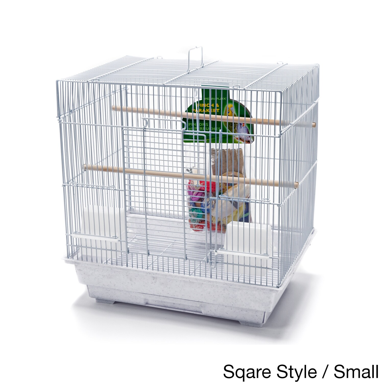 Penn Plax Bird Life Medium Bird Kit - White / Scalloped Top