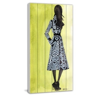 Marmont Hill - 'The Coat' by Lovisa Oliv Painting Print on White Wood