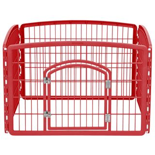 IRIS Plastic 24-inch Exercise 4-panel Pet Playpen with Door