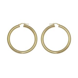 Isla Simone - 18 Karat Gold Electro Plated 4.5Mm X 50MM Round Polished Hoop Earring