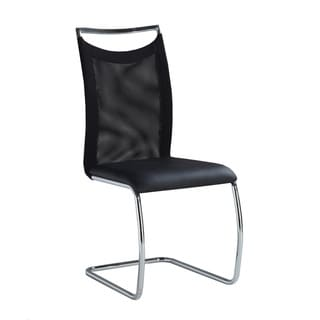 Christopher Knight Home Black Cantilever Meshed-back Dining Chairs (Set of 2)