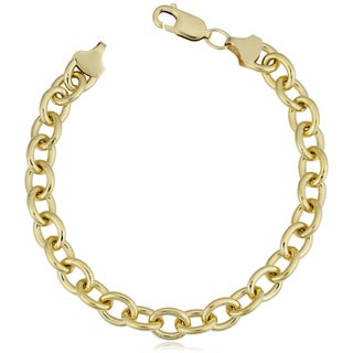 Fremada 14k Yellow Gold Filled 7.5-mm Bold Oval Link Chain Bracelet (7.5 or 8.5 inches)