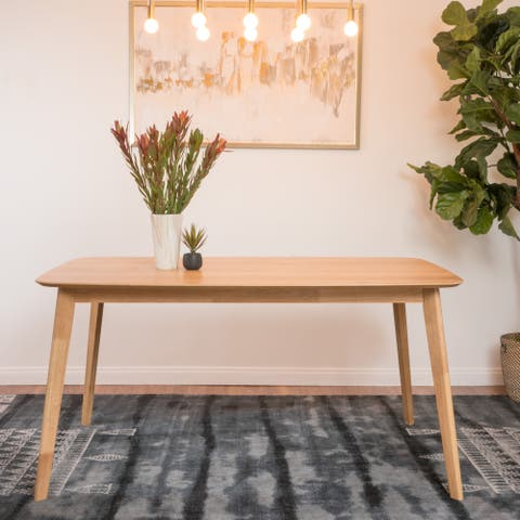 Nyala Natural Oak Finish Wood Dining Table by Christopher Knight Home