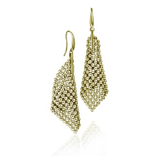 Isla Simone - 18 Karat Gold Electro Plated Perline Large Cone Earring