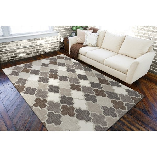 Shop Hand-Tufted Moroccon Wool Area Rug