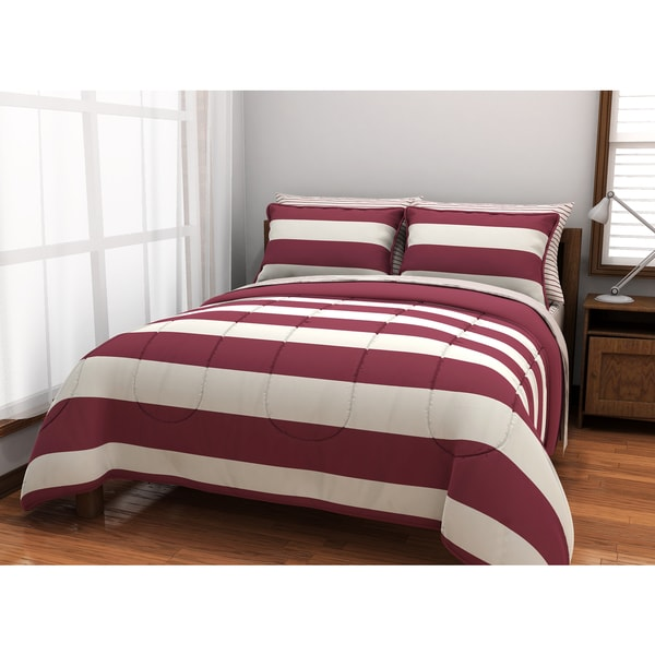 Rugby 5-piece Bed in a Bag with Sheet Set