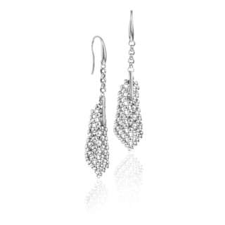 Isla Simone - Fine Silver Plated Perline Small Cone Earring