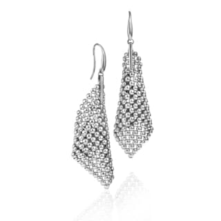 Isla Simone - Fine Silver Plated Perline Large Cone Earring
