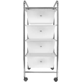 Sorbus 4 Drawer Organizer Rolling Cart, Great for Office or Home - white