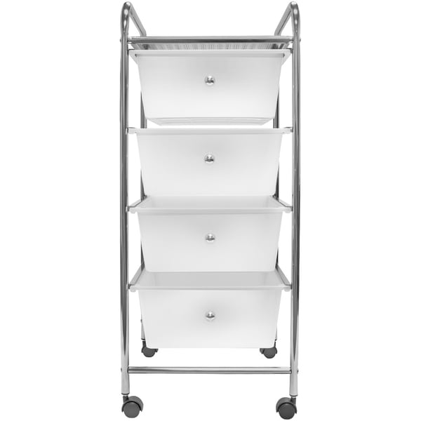 Sorbus 4 Drawer Organizer Rolling Cart, Great For Office Or Home   White