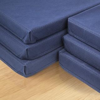 Sorbus Foldable Storage Basket Bin Navy Blue Covers (6 Pack)