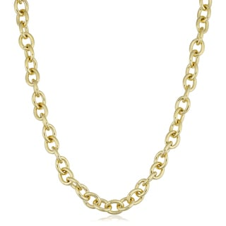 Fremada 14k Yellow Gold Filled 7.5mm Bold Oval Link Chain Necklace