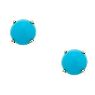 Anika and August 10-karat Yellow Gold Turquoise Earrings