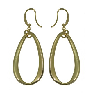 Isla Simone - 18 Karat Gold Electroplated Contoured Ellipse Earring