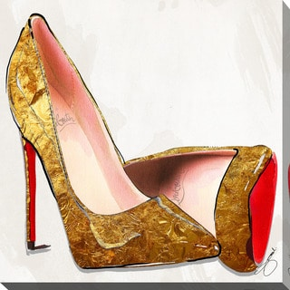 """BY Jodi """"Heart Of Gold, Soul Of Red"""" Giclee Print Canvas Wall Art"""