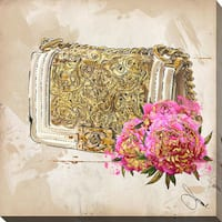 "BY Jodi ""Coco In Gold"" Giclee Print Canvas Wall Art"