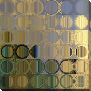 """Mark Lawrence """"Circles and Squares #50"""" Giclee Print Canvas Wall Art"""