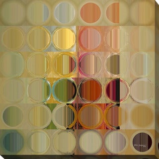 """Mark Lawrence """"Circles and Squares #49"""" Giclee Print Canvas Wall Art"""