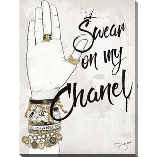 "BY Jodi ""Swear On My Chanel"" Giclee Print Canvas Wall Art"