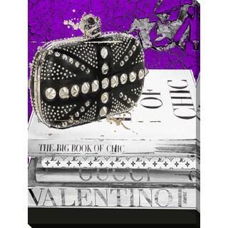 "BY Jodi ""Rocker Chic Purple"" Giclee Print Canvas Wall Art"