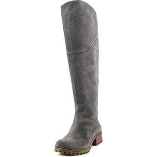 Lucky Brand Women's 'Harleen Wide Calf' Grey Regular Suede Boots