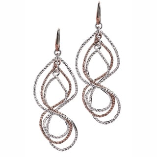 Isla Simone - 18 Karat Rose Gold And Fine Silver Electroplated Textured Swirl Earring