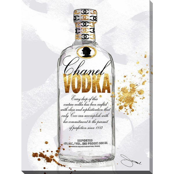 "BY Jodi ""Cc Vodka"" Giclee Print Canvas Wall Art"