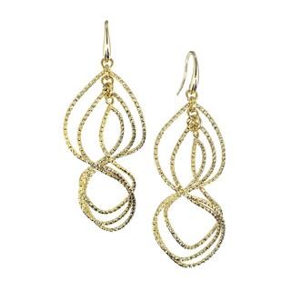 Isla Simone - 18 Karat Gold Electroplated Textured Swirl Earring