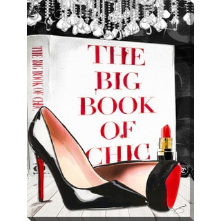 """BY Jodi """"Book Of Chic 2"""" Giclee Print Canvas Wall Art"""