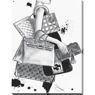 "BY Jodi ""Bag Lady"" Giclee Print Canvas Wall Art"