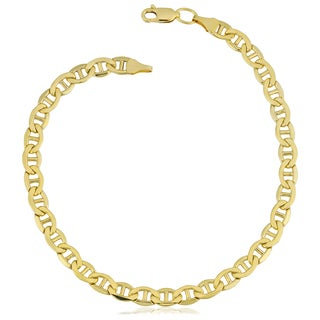 Fremada Yellow Gold Filled 5-mm Mariner Link Chain Men's Bracelet (8.5 inches)