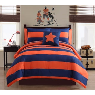 VCNY Rugby 8-piece Bed in a Bag with Sheet Set (4 options available)