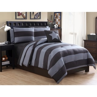VCNY Rugby 8-piece Bed in a Bag with Sheet Set