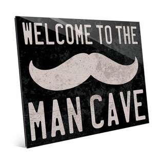 'Welcome to the Man Cave' Acrylic Wall Art
